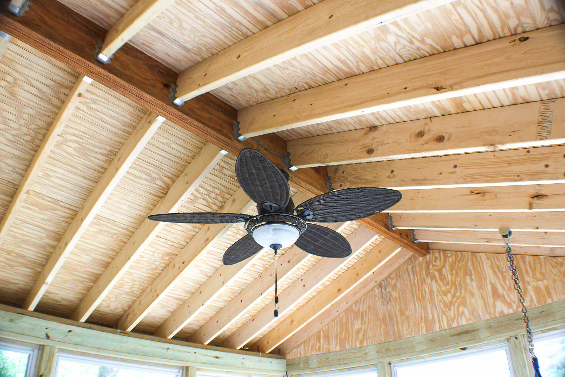 Ceiling Fan with Light and Switch for the Deck