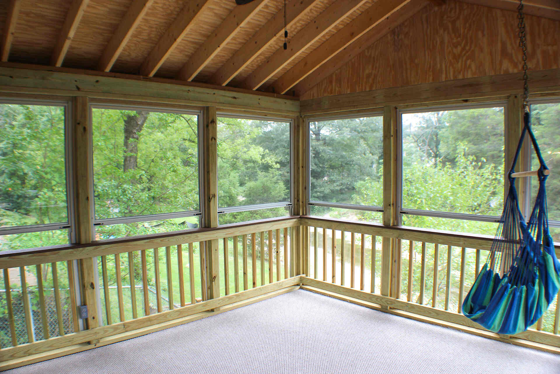 Screened-In Porch with a View